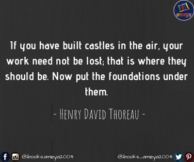 Henry David Thoreau's quote about castles